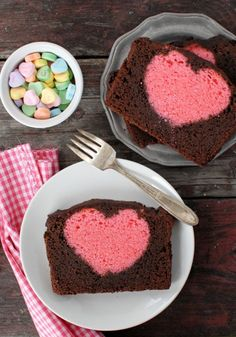 Hidden Heart Valentines Pound Cake- Each slice of this Valentine's Day treat contains a sweet surprise the little kids will love so they can get in on all the holiday fun too.