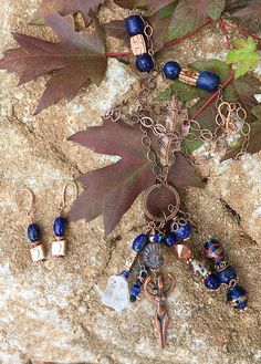 Goddess   Copper and Lapis Talisman by TrueBelieverJewelry  on Etsy https://www.etsy.com/listing/245181395/goddess-copper-and-lapis-talisman