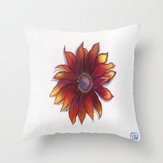 Gloriosa Daisy Throw Pillow by Art by Elle - $20.00