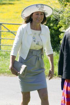 Carole Middleton Dresses: Her Best Ever Looks Kate Middleton Hats, Carole Middleton, Middleton Family, Wedding Outfits For Family Members, Tulle Skirt Dress, Wedding News, Royal Weddings, Celebs, Celebrities