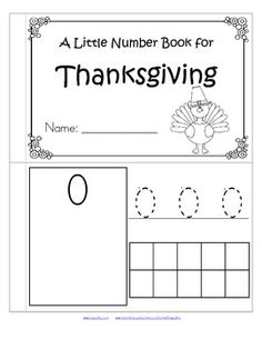 This is a booklet to review and practice counting and number recognition 0-10. It has a Thanksgiving theme. Children can recognize the numerals, count the sets, trace the numbers, and fill in the 10-frames by stamping or coloring.