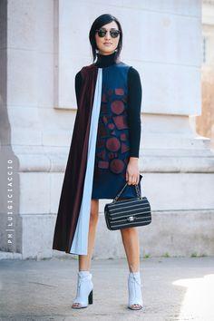 "fashionarystreet: ""StreetStyle #pfw Nicole Warne "" MORE FASHION AND STREET STYLE"