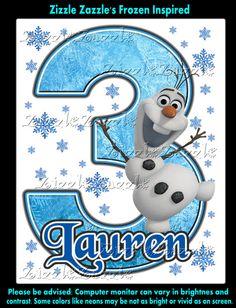 Frozen Olaf Birthday Party t Shirt Iron On by ZizzleZazzle1, $4.25