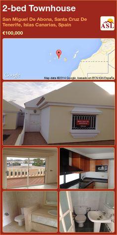 2-bed Townhouse in San Miguel De Abona, Santa Cruz De Tenerife, Islas Canarias, Spain ►€100,000 #PropertyForSaleInSpain