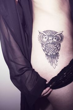 lovely owl tattoo
