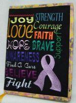 Cancer Awareness Chalkboard 4 sizes