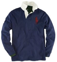 Polo Ralph Lauren Classic-fit Number Collar Big Pony Rugby, Navy $110.00 - $120.00