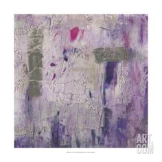 Dusty Violet II Art Print by Jennifer Goldberger at Art.com
