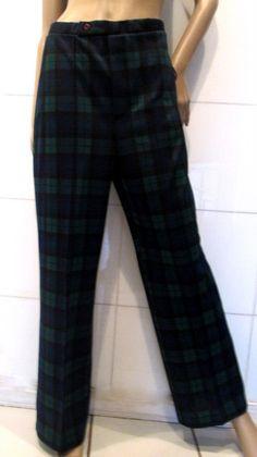 Vintage Plaid Pants.  Polyester Plaid Pants. by MISSVINTAGE5000