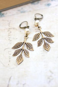 Branch Earrings Woodland Jewellery Nature by apocketofposies