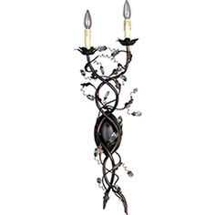 Pyramid Creations�11-in W Elegante 2-Light Bronze Arm Wall Sconce