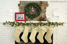 Mantel  Decorations : IDEAS &  INSPIRATIONS : Modern Country Christmas Mantel