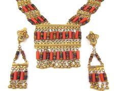 Fringe Binge  Vintage Egyptian Revival Beaded by OrbitingDebris, $48.00