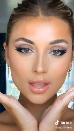 Eye Makeup Steps, Makeup Eye Looks, Eye Makeup Art, Contour Makeup, Makeup For Brown Eyes, Glam Makeup, Skin Makeup, Natural Brown Eye Makeup, Brown Makeup Looks