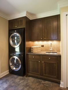 Laundry Room Ideas Stacked Washer Dryer. This is the position the washer and dryer would be in with a sink on the right along the wall in bigger bathroom.