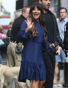 Celebrities making an appearance on 'Good Morning America' in New York City, New York on April 28, 2017. Pictured: Lea Michele