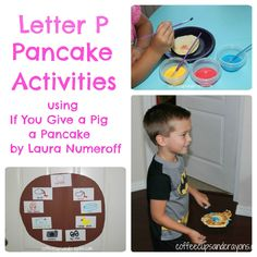 Letter P Pancake Activities for If You Give a Pig a Pancake