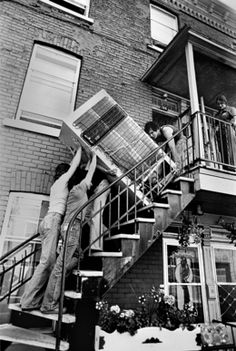 Réjean Meloche, 'Demenagement,' The Print Atelier Moving House Quotes, Old Photos, Vintage Photos, Montreal Architecture, Old Montreal, Canada, Black And White Photography, Past, Digital Prints