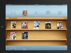 How do I use Newsstand to read magazines and newspapers on my iPad