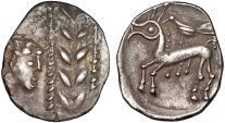 Eastern Celts: Boii AR drachm – Head and wreath/Horse and bird – Totfalu type – Excellent preservation for type