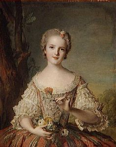Louise de France (1737-87), by Jean-Marc Nattier French History, Art History, Marie Antoinette, Jean Antoine Watteau, Princess Louise, French Royalty, Court Dresses, 18th Century Fashion, Portraits From Photos