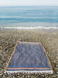 MAYAS beach towel exclusive luxury designer beach by cleogatzeli