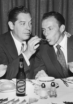 Frank photographed with Milton berle, circa 1955.
