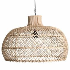 Handmade rattan lamp pendant - sizes may vary slightly.Also available in a black coloured Rattan. Geometric Pendant, Rattan Pendant Light, Pendant Lamp, Hanging Lamp, Modern Lamp, Lamps Living Room, Room Lamp, Rattan Lamp, Chandelier Shades