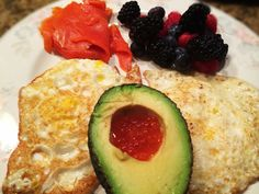 Eggs, Smoked Salmon, Berries, And Avocado With Salmon Roe: 8/22/14