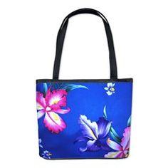Tropical Hibiscus Beach Flowers - Bucket Bag