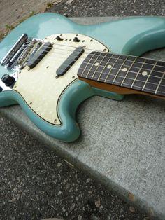 Fender 1965 Mustang Daphne Blue Custom Color Vintage Guitar All Original