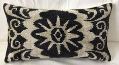 Silk Velvet Ikat Pillow Cover