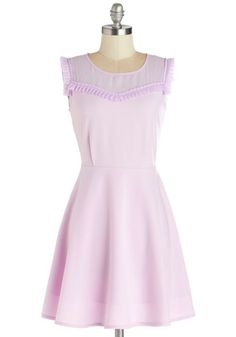 Pretty in Pastels! :: Lovely Lavender Dress that will give you a dreamy whimsical feel! :: Spring Fashion::Vintage Style:: Spring Dress