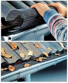 Keep gutters leaf-free / canalones de agua de techos Má