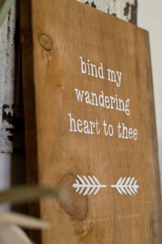 Rustic Wall Hanging Come thou fount of every blessing by AceAvenue