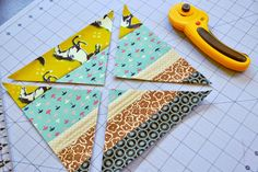 .House. of A La Mode: Scrappy STRIPED Flying Geese TUTORIAL!!