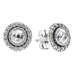 PANDORA 'Brilliant Legacy' Round Stud Earrings ($70) ❤ liked on Polyvore featuring jewelry, earrings, stud earring set, pandora earrings, stud earrings, pandora jewelry and post earrings