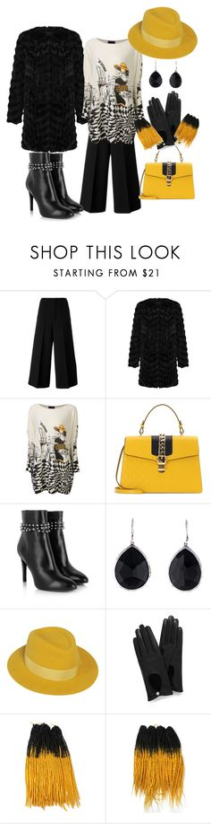 """""""Untitled #186"""" by delmode ❤ liked on Polyvore featuring Marni, Unreal Fur, Gucci, Yves Saint Laurent, Ippolita, Maison Michel, Mulberry and 19"""