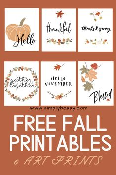 Fall Crafts, Holiday Crafts, Kids Crafts, Fall Signs, Fall Diy, Happy Fall, Fall Halloween, Tricks, Free Thanksgiving Printables