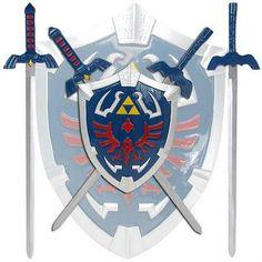 Zelda Hylian Shield & Swords Wall Display Set