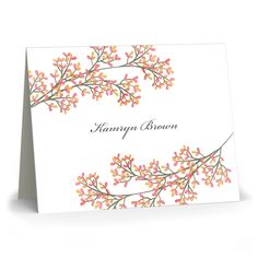 Fall Branches Folded Note Cards