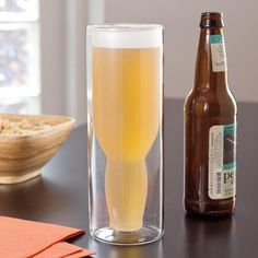 Double Walled Vacuum Beer Glass keeps beer cold longer...need this!