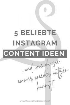 """5 Instagram Content Ideen, die du immer wieder zum Planen und Posten nutzen kannst. """"Über mich"""", Zitate, Infografiken u.v.m. Pinterest Profile, Motivation, Marketing, Social Media, Content, Facebook, Organization, Earn Money, Blogging"""