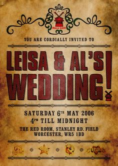 we both love this movie...so Moulin Rouge Wedding Invites?? awesome!