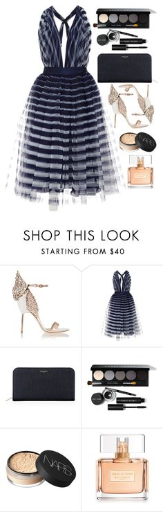 Such a pretty night... by fruktamunta on Polyvore featuring Naeem Khan, Sophia Webster, Yves Saint Laurent, Bobbi Brown Cosmetics, NARS Cosmetics and Givenchy
