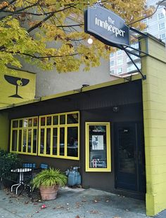 The Innkeeper, Seattle 2510 1st Avenue. innkeeperseattle.com happy hour: 3pm - 6 pm.  Not much on the happy hour food menu, but the regular menu is Brazilian, Latin, Cuban and not too pricey. Food is spectacular. Outdoor back patio is outstanding but get there early!