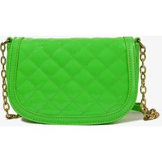 FOREVER 21 Quilted Patent Crossbody ($20) ❤ liked on Polyvore