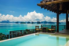 On pretty Yao Noi island in Phang Nga Bay, the Six Senses can be reached by motor boat from Phuket-or you can catch a ride in the resort's helicopter. This luxury resort is both romantic and family-friendly. Beach Resorts, Hotels And Resorts, Best Hotels, Luxury Hotels, Romantic Beach Getaways, Romantic Honeymoon, Romantic Resorts, Honeymoon Hotels, Best Honeymoon Destinations