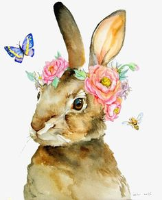 67 HD Wallpapers of Rabbit Illustrations within this adorable group. Try Rabbit Illustrations and share Rabbit Illustrations using any social media. Art And Illustration, Illustrations, Rabbit Illustration, Watercolor Animals, Watercolor Paintings, Watercolours, Lapin Art, Rabbit Art, Rabbit Drawing