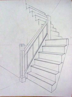Art7A Beginning Drawing and Composition with William Smith: Thurs. Mar. 10 Linear Perspective: The Museum Point Perspective, Stairs, Flooring, Collection, Interior, Home Decor, Indoor, Homemade Home Decor, Ladder
